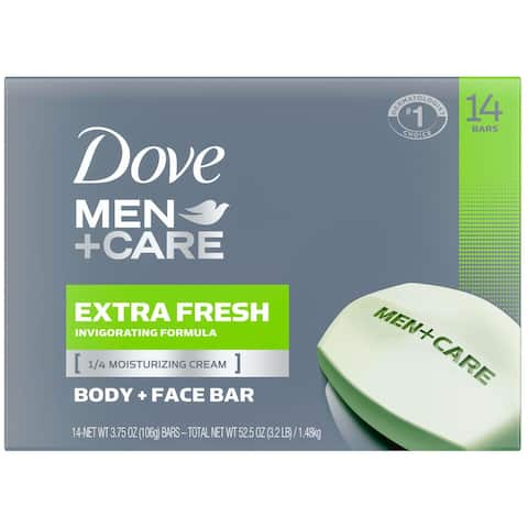 Dove Men&Care Body And Face Bar Extra Fresh 3 75 Ounce (14 Count)