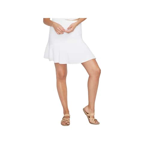 Rachel Rachel Roy Womens Flare Skirt Ribbed Knit