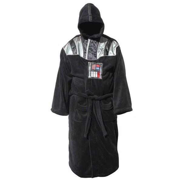 Star Wars Darth Vader Men's Hooded Bathrobe - Black