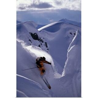 """Downhill Skier"" Poster Print"