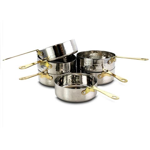 Gibson Home Lannister 6 Piece 4.7 Inch Mini Frying Pans with Gold Plated Handle