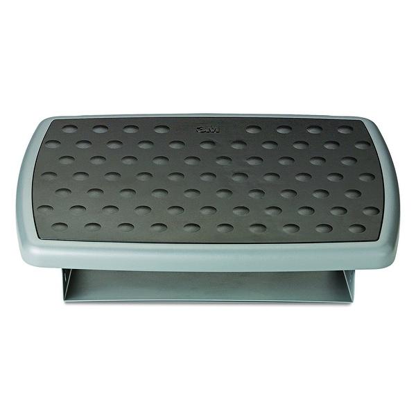 3M Mobile Interactive Solution Fr330 Adjustable Steel Footrest Non-Slip Black