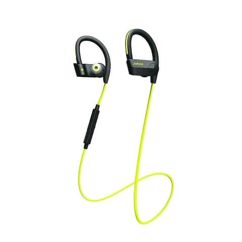 Jabra Sport Pace Wireless Bluetooth Earbuds - Yellow - (U.S. Retail Packaging) - 4.7 x 6.8 x 1.7