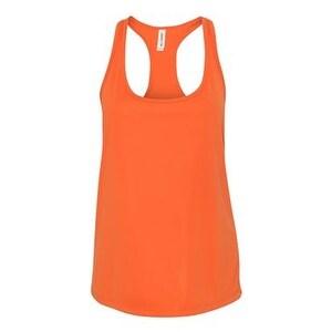 Women's Performance Racerback Tank - Sport Orange - S