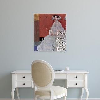 Easy Art Prints Gustav Klimt's 'Fritza Riedler' Premium Canvas Art