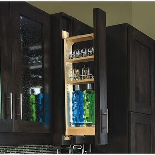 Rev-A-Shelf 432-WF33-3C 432 Series 3 Inch Wide by 33 Inch High Upper Cabinet Pull Out Filler Organizer