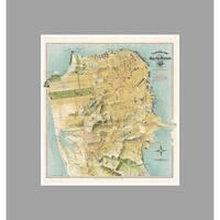 San Francisco  (22x24) Vintage City Maps Matte Poster 22x24