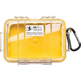 Pelican 1020 Micro Protector Case with Carabiner - Yellow/Clear