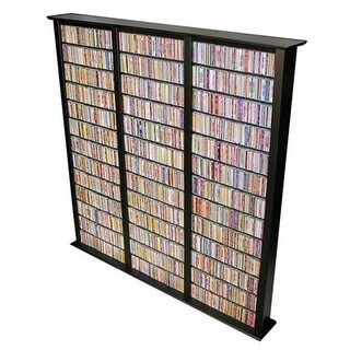 Venture Horizon 2413-21BL Media Storage Tower-Tall Triple black