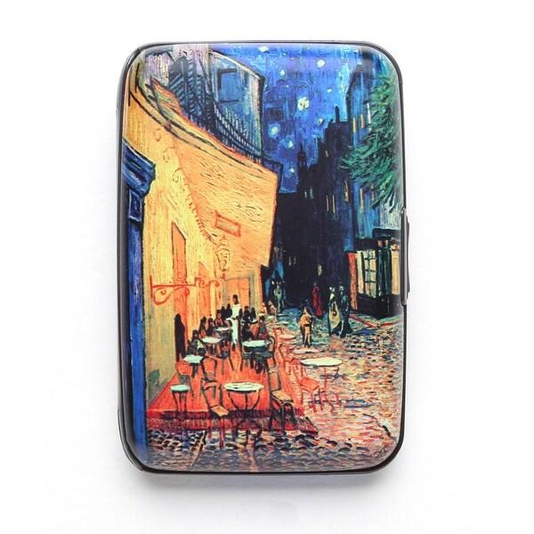 Women's Fine Art Identity Protection RFID Wallet - Cafe - Medium