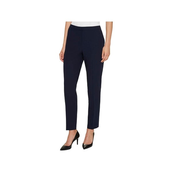 Tommy Hilfiger Womens Fairfield Ankle Pants Suit Separate Slim Leg