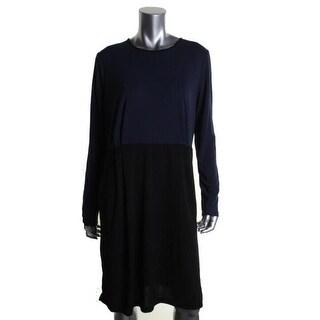 Jones New York Womens Colorblock Long Sleeves Wear to Work Dress - M