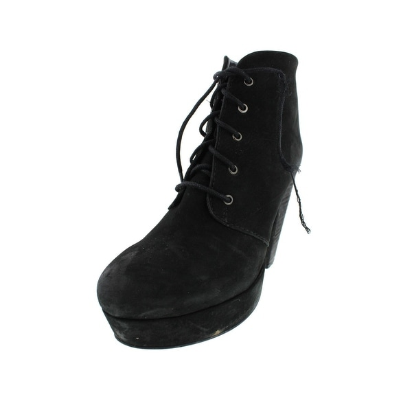 1ecb562cdd7 Steve Madden Womens Raspy Ankle Boots Leather Lace Up - 9 Medium (B