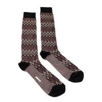 Missoni GM00CMU5242 0001 Burgundy/Cream Knee Length Socks - L