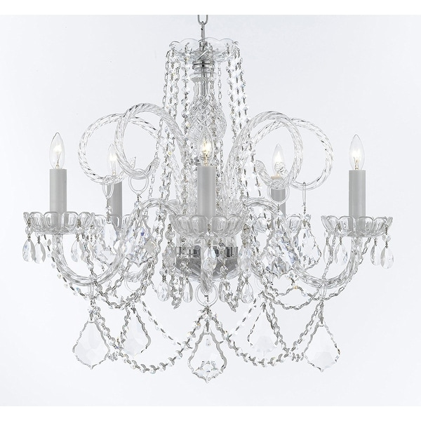 Shop venetian style crystal chandelier w large luxe diamond cut venetian style crystal chandelier w large luxe diamond cut crystals aloadofball Images