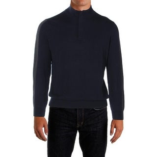 Perry Ellis Mens Pullover Sweater Colorblock 1/4 Zip