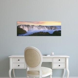 Easy Art Prints Panoramic Image 'Wave on rocks, Playa Cerritos, Cerritos, Baja California Sur, Mexico' Canvas Art