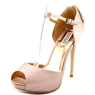 Badgley Mischka Gene Open-Toe Canvas Mary Janes|https://ak1.ostkcdn.com/images/products/is/images/direct/22d4fdc21b9d246410c2aec8983d0cbdaa3f90e4/Badgley-Mischka-Gene-Women-Open-Toe-Canvas-Pink-Mary-Janes.jpg?impolicy=medium