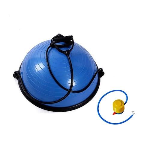 "23"" Yoga Balance Ball Trainer, Half Yoga Ball with Air Pump"