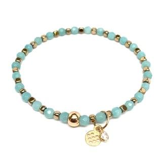 "Mint Aventurine Friendship 7"" Bracelet"