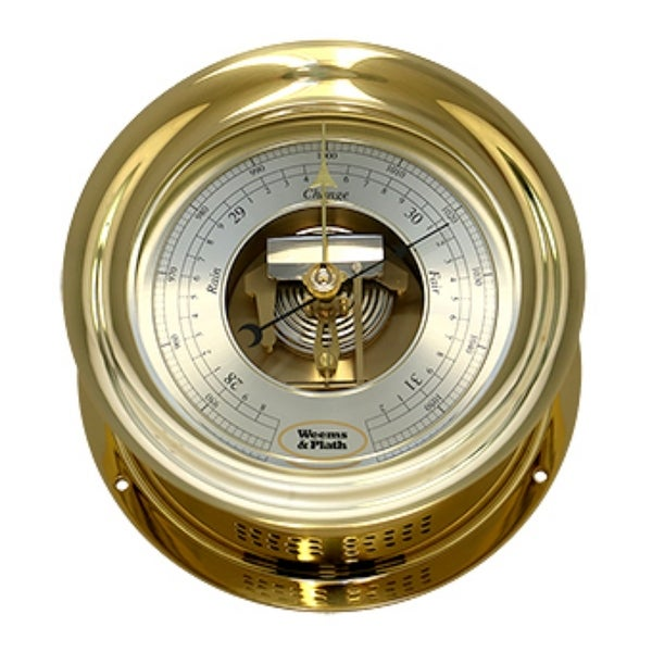 "10"" Gold and Silver Contemporary Round Anniversary Barometer - N/A"