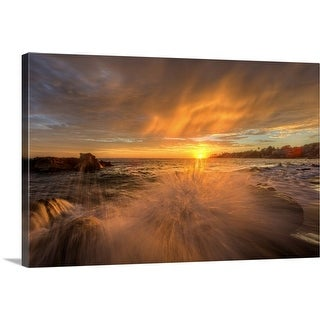 """Golden splash"" Canvas Wall Art"