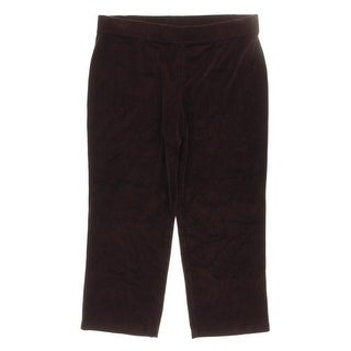 Karen Scott Womens Petites Lounge Pants Velour Comfort Waist - pxl
