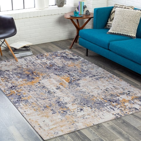 Haile Industrial Abstract Area Rug
