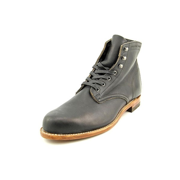bbb03f0bcf2 Wolverine 1000 Mile Men 3E Round Toe Leather Black Boot