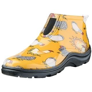 Women's Sloggers Ankle Rain Boots - Fun Chicken Print