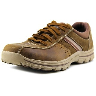 Skechers Braver Round Toe Leather Sneakers