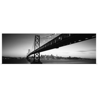 """Bay Bridge, San Francisco Bay, San Francisco, California"" Poster Print"
