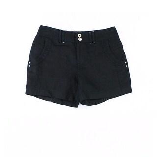 INC NEW Deep Black Women's Size 0 Linen Four-Pocket Casual Shorts