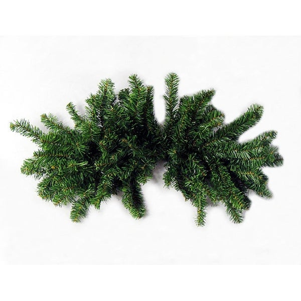 """32"""" Pre-Lit Canadian Pine Artificial Christmas Swag - Clear Lights - green"""