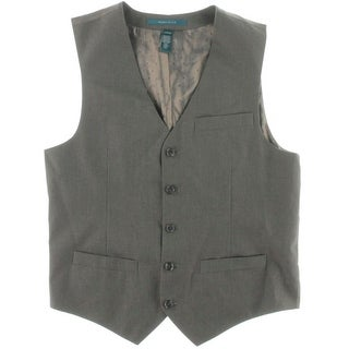 Perry Ellis Mens Twill Pinstriped Suit Vest
