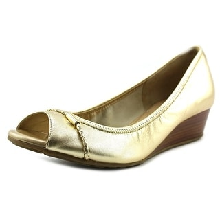 Cole Haan Tali Ot.DetWedge.40 Open Toe Leather Wedge Heel