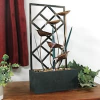 Sunnydaze Wandering Leaves Tabletop Fountain 20 Inch Tall