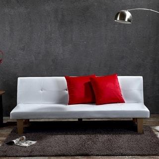 Belleze Convertible Futon Folding Sofa w/ (2) Pillow Bed Couch Sleep Adjustable Recliner Lounger, White|https://ak1.ostkcdn.com/images/products/is/images/direct/22dca221500f1741a7c50e4da3345639093dbb41/Belleze-Convertible-Futon-Folding-Sofa-w--%282%29-Pillow-Bed-Couch-Sleep-Adjustable-Recliner-Lounger%2C-White.jpg?impolicy=medium