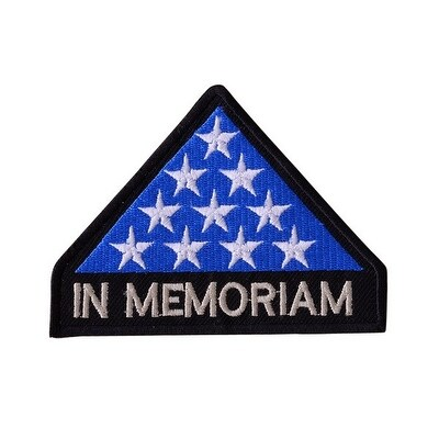 IN MEMORIAM Embroidered Iron On Motorcycle Biker Vest Jacket Military Patch P27