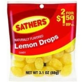 Sathers Lemon Drops 12 pack (3.1oz per pack)