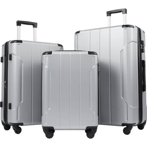 """Merax 3Pcs Lightweight Expandable Luggage Set with TSA, 20"""" 24"""" 28"""""""