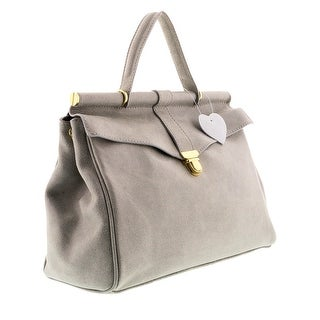 HS2071 VIVI Grey Leather Top Handle/Shoulder Bag