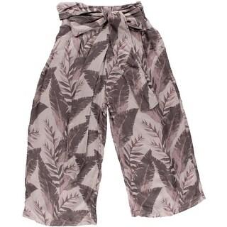 Free People Womens Knit Printed Wide Leg Pants