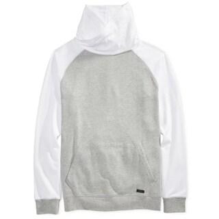Univibe NEW Gray White Men Size 2XL Funnel-Neck Colorblock Sweater
