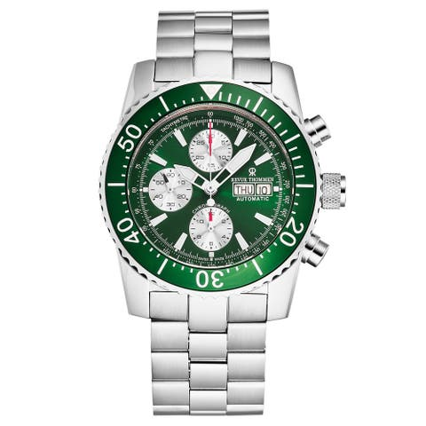 Revue Thommen Men's 17030.6131 'Divers' Green Dial Day-Date Chronograph Automatic Watch