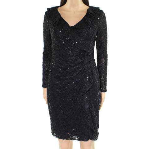Lauren by Ralph Lauren Womens Petite Lace Sheath Dress