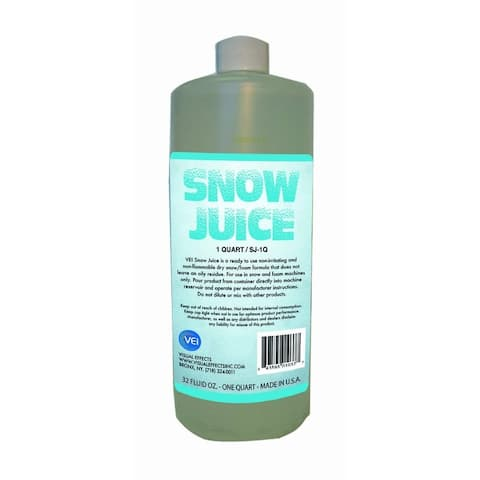 One Quart Of Snow Juice Specifically Designed For Snow Or Foam Producing Machines Only, Non-Irritati