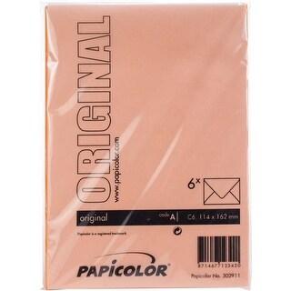 Orange - Papicolor A6 Envelopes 6/Pkg