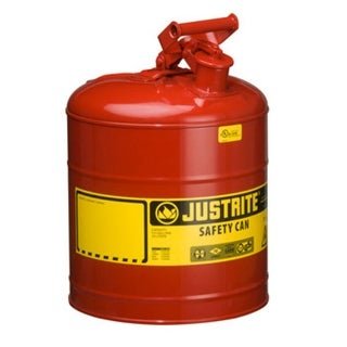 Justrite 7150100 Safety Gas Can 5 Gallon, Red
