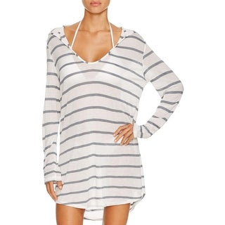 Splendid Womens Tunic Top Hooded Striped